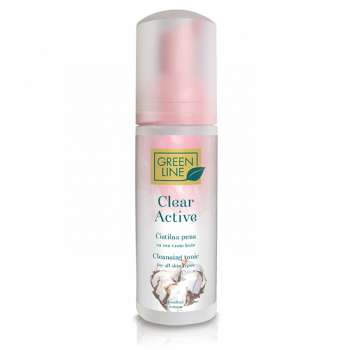 GREEN LINE CLEAR ACTIVE PJENA ZA CISCENJE LICA 150ML