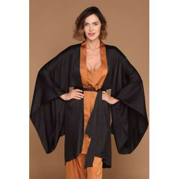 ALMA RAS KIMONO OGRTAC DIVA IS BACK CRNA-SUGAR BROWN 44