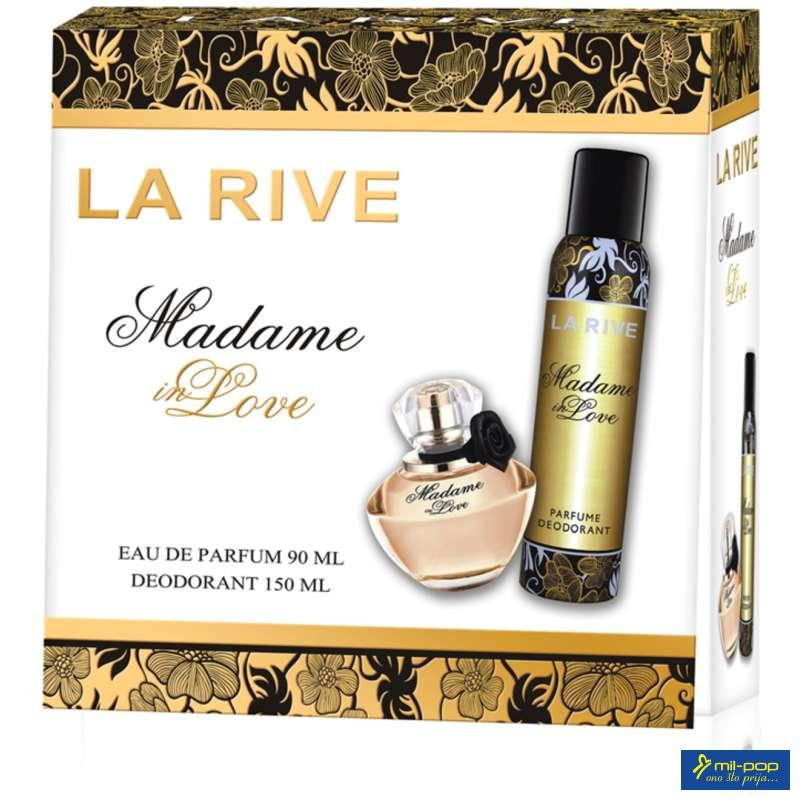 LA RIVE SET MADAME IN LOVE- FLORA GUCCI EDP 90ML+DEO 150ML Z.