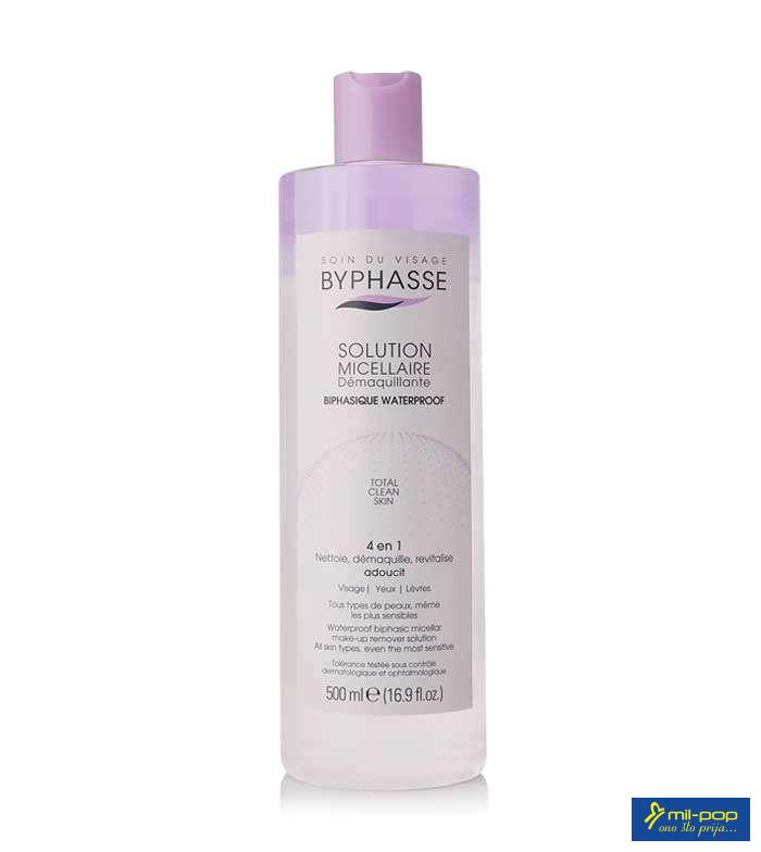 BYPHASSE MICELLAR MAKE UP REMOVER SOLUTION VODOOTPORNA 500 ML